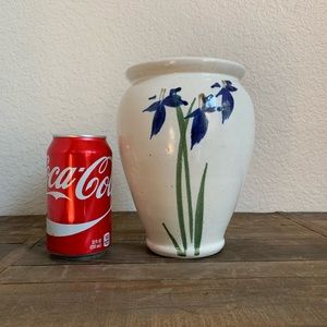 Accents - Blue Iris Double-sided Pottery Vase